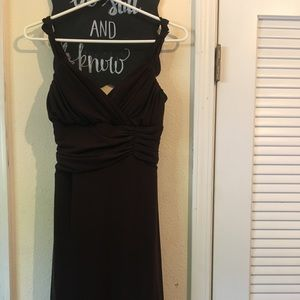 BROWN spaghetti strap dress